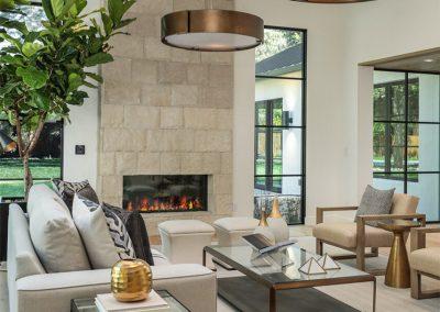 Arboretum House fireplace